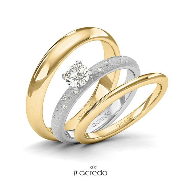 Verlobungsring Diamantring 0,43 ct. G SI & tw, si Weißgold 585