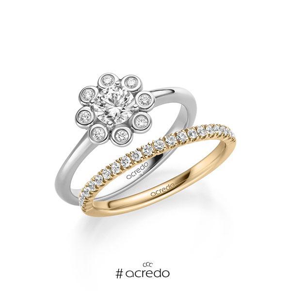 Verlobungsring Diamantring 0,62 ct. G SI & tw, si Weißgold 585