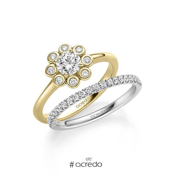 Verlobungsring Diamantring 0,62 ct. G SI & tw, si Gelbgold 585