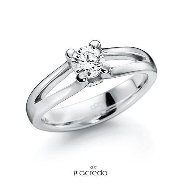 Verlobungsring Diamantring 0,4 ct. G VS & tw, si Weißgold 585