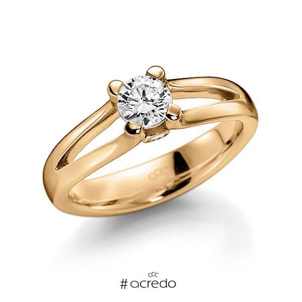 Verlobungsring Diamantring 0,5 ct. G VS & tw, si Roségold 585