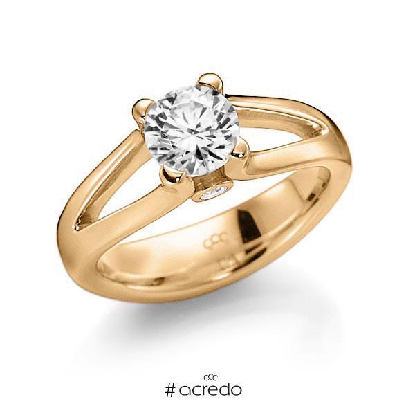 Verlobungsring Diamantring 1 ct. G VS & tw, si Roségold 585