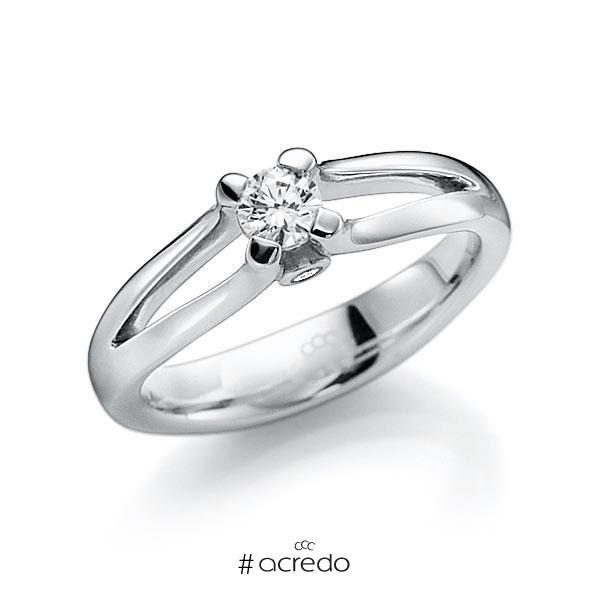 Verlobungsring Diamantring 0,3 ct. G VS & tw, si Weißgold 585