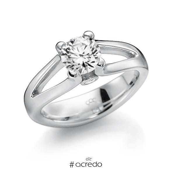 Verlobungsring Diamantring 1 ct. G VS & tw, si Weißgold 585