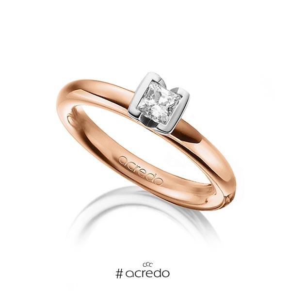 Trauringe Rotgold 750 mit 0,4 ct. G VS