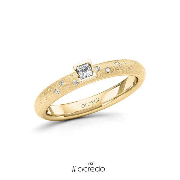 Verlobungsring Diamantring 0,13 ct. tw, si Gelbgold 585
