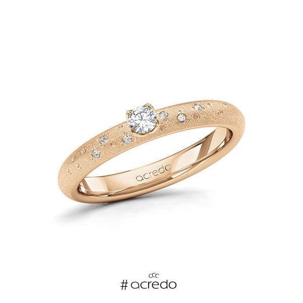 Verlobungsring Diamantring 0,13 ct. tw, si Roségold 585