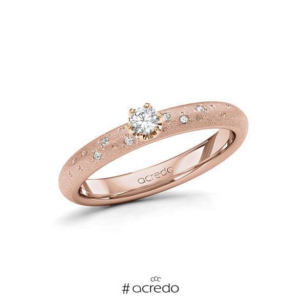 Verlobungsring Diamantring 0,13 ct. tw, si Rotgold 585