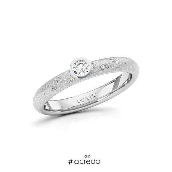 Verlobungsring Diamantring 0,13 ct. tw, si Weißgold 585