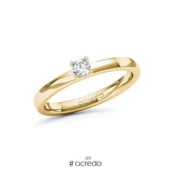 Verlobungsring Diamantring 0,15 ct. tw, si Gelbgold 585