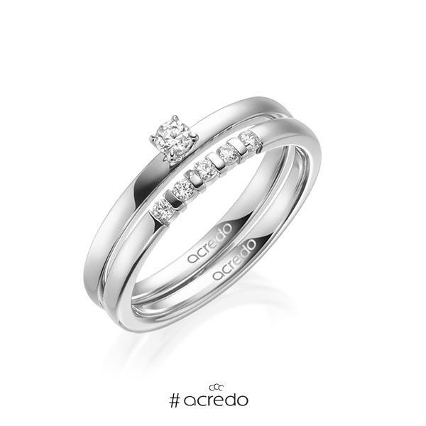 Verlobungsring Diamantring 0,15 ct. tw, si Weißgold 750