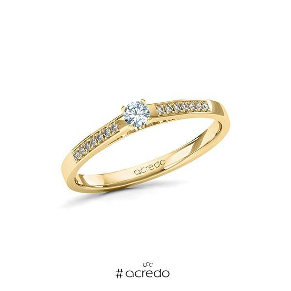 Verlobungsring Diamantring 0,17 ct. tw, si Gelbgold 585