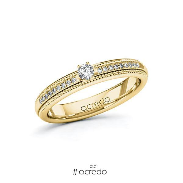 Verlobungsring Diamantring 0,19 ct. tw, si Gelbgold 585