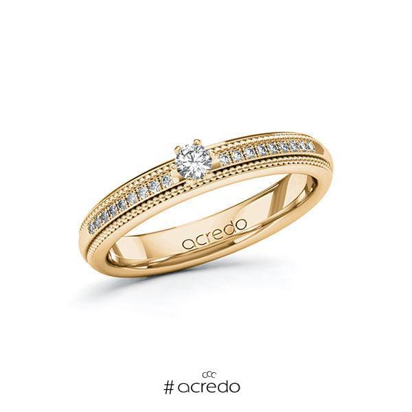 Verlobungsring Diamantring 0,19 ct. tw, si Roségold 585