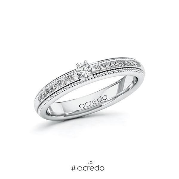 Verlobungsring Diamantring 0,19 ct. tw, si Weißgold 585
