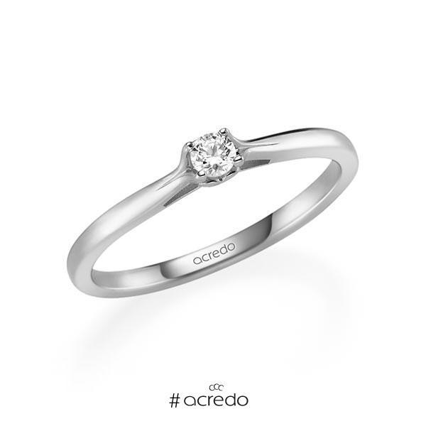 Verlobungsring Diamantring 0,1 ct. tw, si Weißgold 585