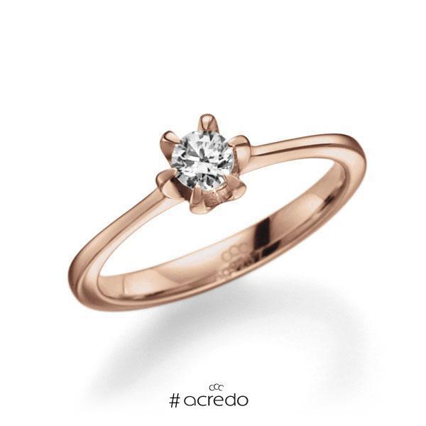 Verlobungsring Diamantring 0,25 ct. tw, vs Rotgold 585