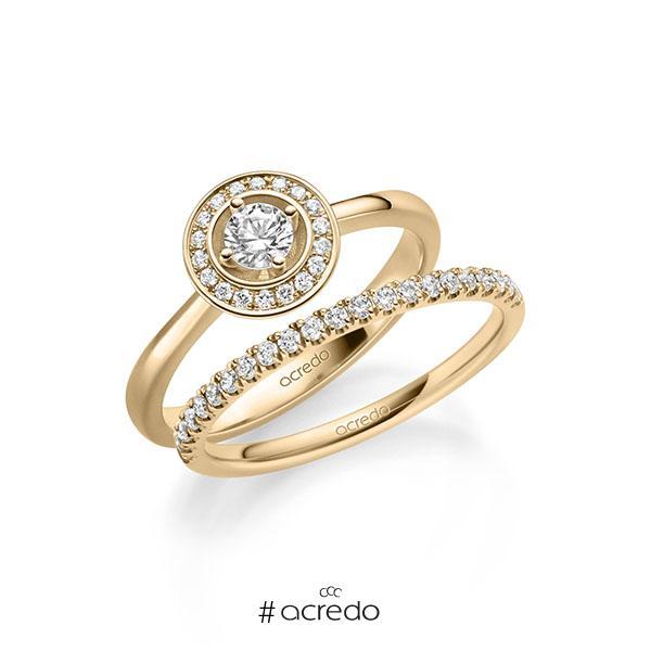 Verlobungsring Diamantring 0,29 ct. tw, si Roségold 585