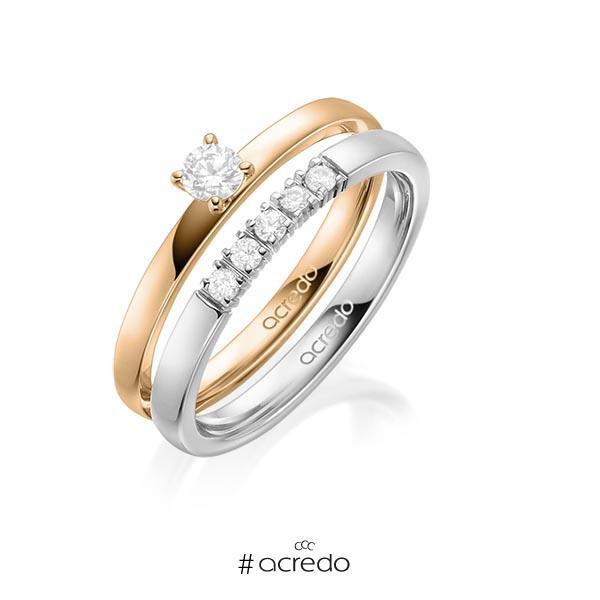 Verlobungsring Diamantring 0,2 ct. tw, si Roségold 750