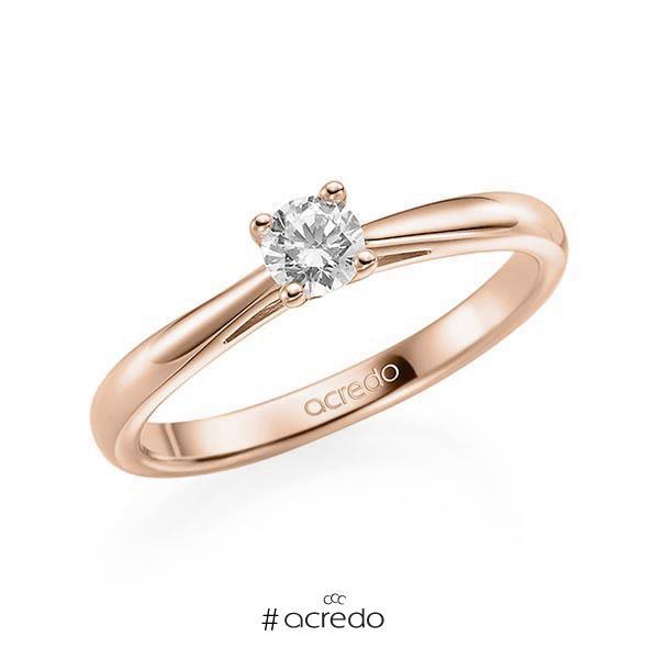 Verlobungsring Diamantring 0,2 ct. tw, si Rotgold 585