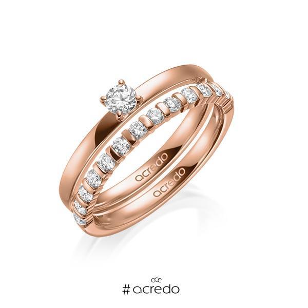 Verlobungsring Diamantring 0,2 ct. tw, si Rotgold 750