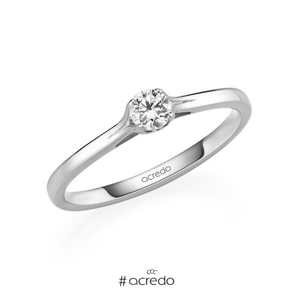 Verlobungsring Diamantring 0,2 ct. tw, si Weißgold 585