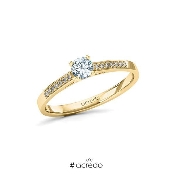 Verlobungsring Diamantring 0,32 ct. tw, si Gelbgold 585