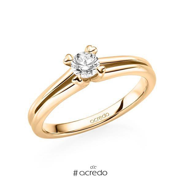 Verlobungsring Diamantring 0,3 ct. G SI Roségold 585