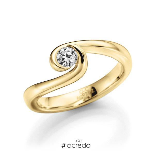 Verlobungsring Diamantring 0,3 ct. G VS Gelbgold 585