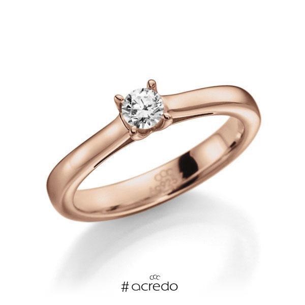 Verlobungsring Diamantring 0,3 ct. G VS Rotgold 585