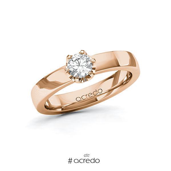 Verlobungsring Diamantring 0,4 ct. G SI Rotgold 585