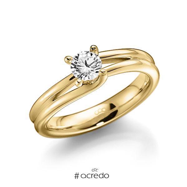 Verlobungsring Diamantring 0,4 ct. G VS Gelbgold 585