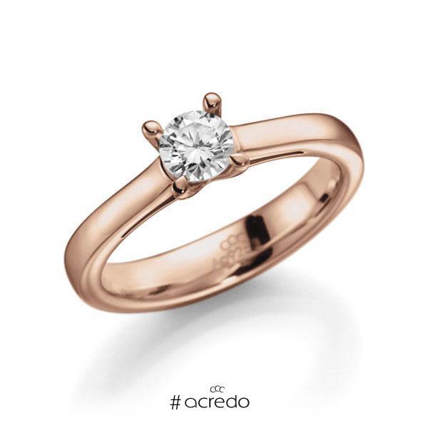Verlobungsring Diamantring 0,4 ct. G VS Rotgold 585