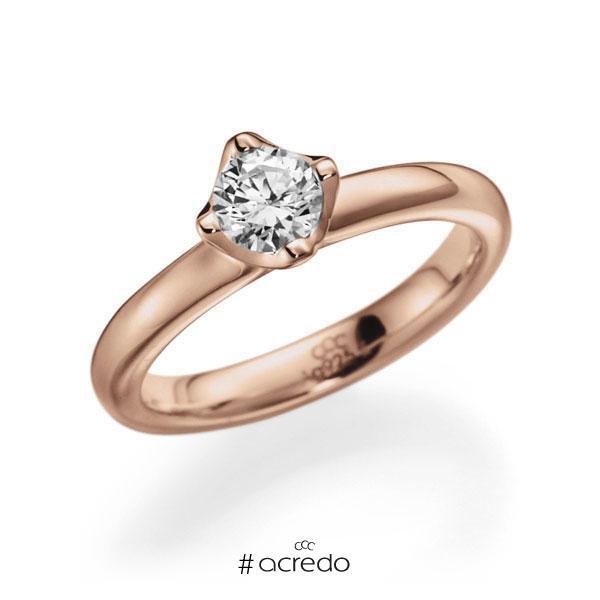 Verlobungsring Diamantring 0,5 ct. G VS Rotgold 585