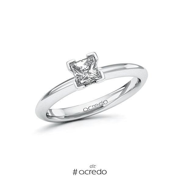 Verlobungsring Diamantring 0,5 ct. G VS Weißgold 585