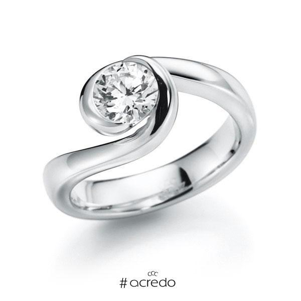 Verlobungsring Diamantring 0,7 ct. G SI Weißgold 585