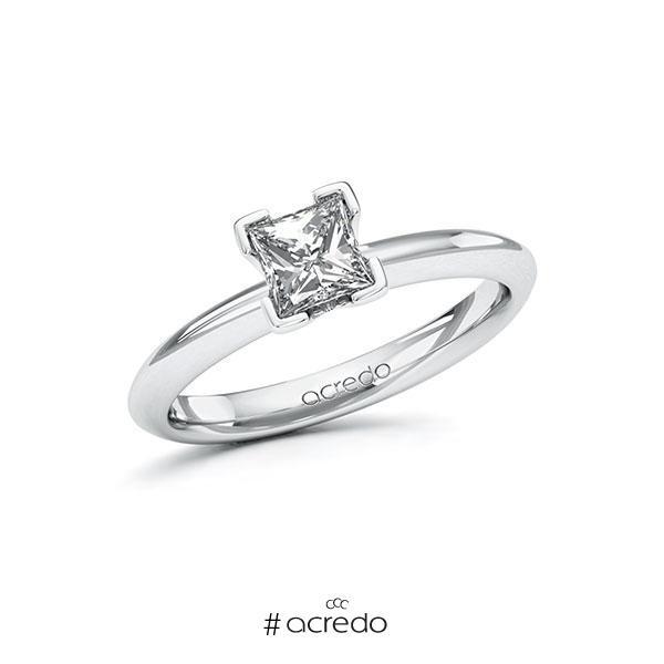 Verlobungsring Diamantring 0,7 ct. G VS Weißgold 585