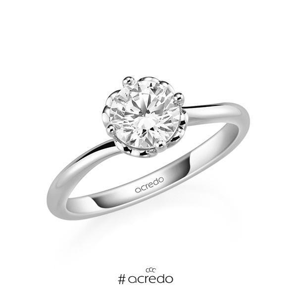 Verlobungsring Diamantring 1 ct. G SI Weißgold 585