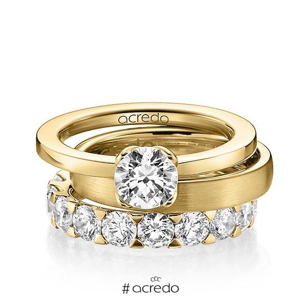 Verlobungsring Diamantring 1 ct. G VS Gelbgold 750