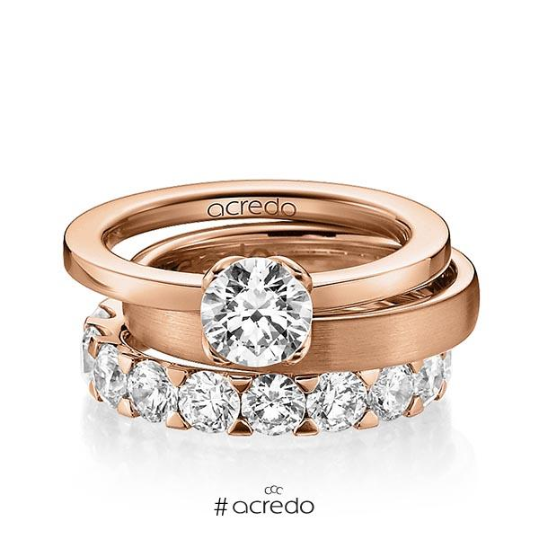 Verlobungsring Diamantring 1 ct. G VS Rotgold 750