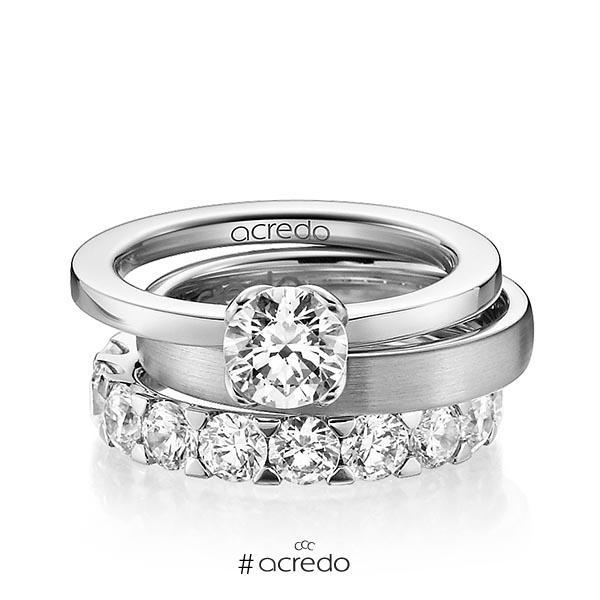 Verlobungsring Diamantring 1 ct. G VS Weißgold 750