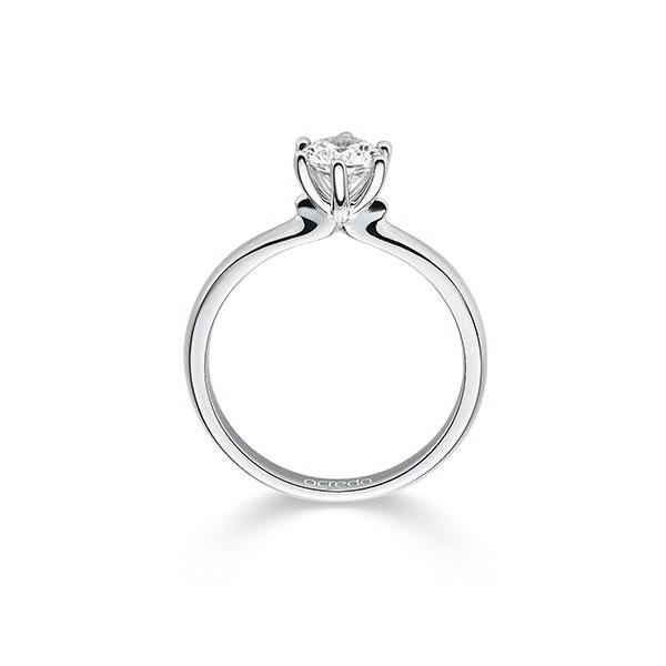 Diamantring mit 6-Krappenfassung, Breite: 1,90, Höhe: 1,30