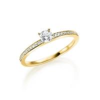Diamantringe  Diamantringe mit seitlichem Steinbesatz | Trauringe 123gold