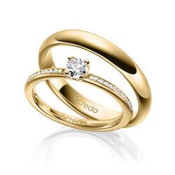 Besondere eheringe gold  Trauringe mit zertifizierten Diamanten | acredo