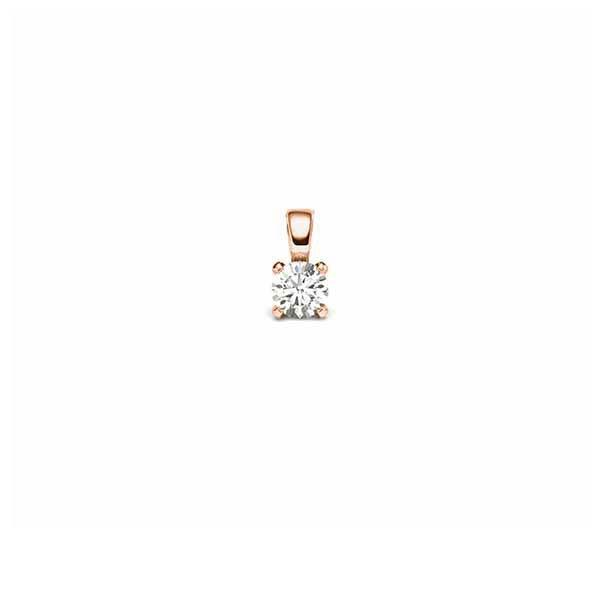 Anhänger Rotgold 585 mit 0,15 ct. tw, si