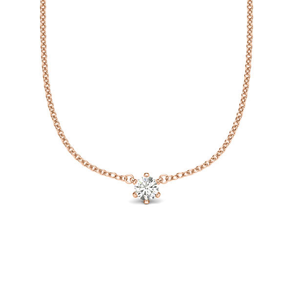 Anhänger Rotgold 585 mit 0,1 ct. tw, si