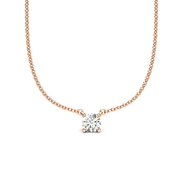 Anhänger Rotgold 585 mit 0,2 ct. tw, si