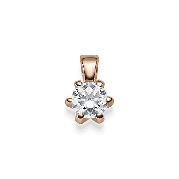 Anhänger Rotgold 585 mit 0,4 ct. G SI