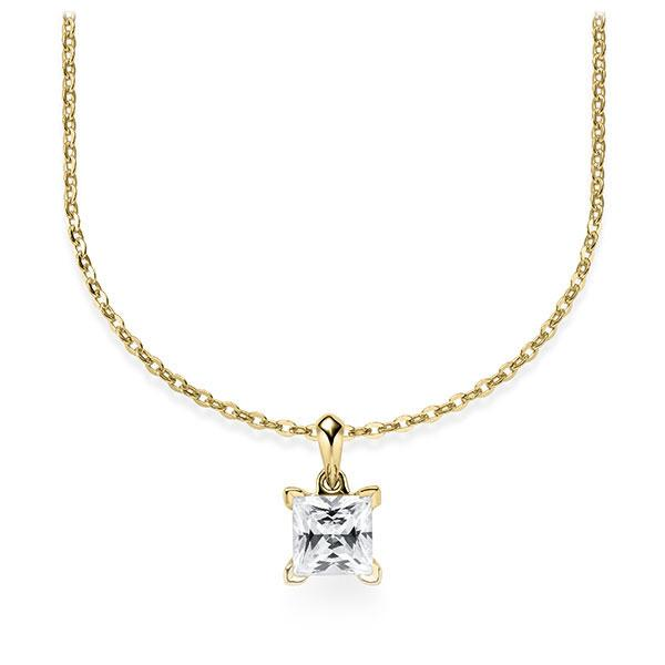 Diamant-Collier Gelbgold 585 mit 0,5 ct. tw, vs Steinberg - Individuals