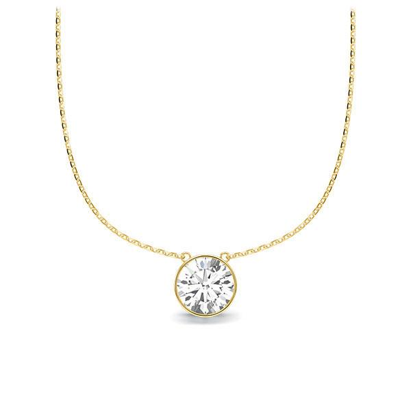 Diamant-Collier Gelbgold 585 mit 0,5 ct. tw, vs